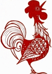 rooster logo red