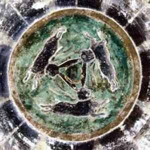 Buddhist Cave Painting, Silk Road circa 640 B.C.E.